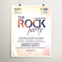 modello di volantino musica rock party con texture di sfondo