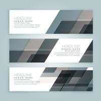 business style web banners set of three