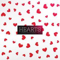 Fondo de patrón de corazones rojos