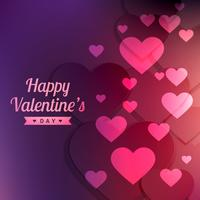 valentines day colorful background vector design illustration