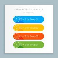 infographic stappenbanner in kleuren