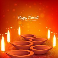 Vector de fondo de diseño hermoso saludo diwali festival