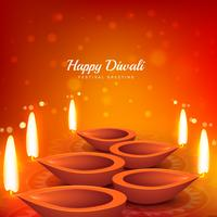 beautiful diwali festival greeting design background vector