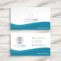 simple clean business card vector design illustration