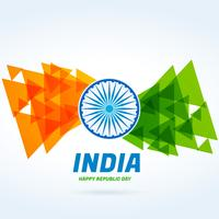 abstract indian flag design vector design illustration