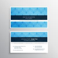 blue business card modern template with abstract elegant pattern