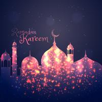 Ramadán kareem saludo de fondo
