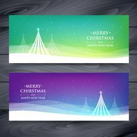 set van kerst banners