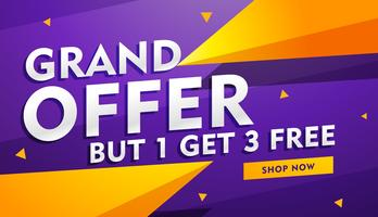 grand offer poster banner design for faishon and retail industry