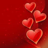 beautiful hearts background poster vector design illustration