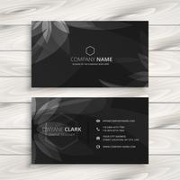 dark flower business card template vector design illustration