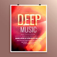 Design de modelo de cartaz de panfleto de música para seu evento