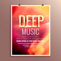 music flyer brochure poster template design for your event