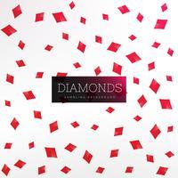 Fondo de formas de diamante de naipes