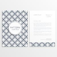 elegant letterhead design with abstract pattern shapes