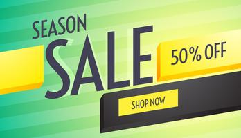 season sale discount voucher design with beautiful colors and 3d