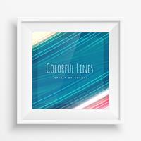traits de peinture colorés