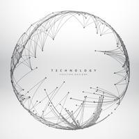 Fondo de tecnología hecha con diseño de vector de malla circular illu