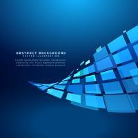 abstrakte blaue quadratische Welle