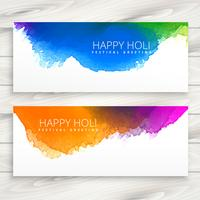 Happy holi banners