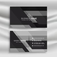 dark business card design with abstract shapes