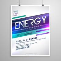 modern creative music flyer template design