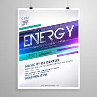 modern creative music flyer template design