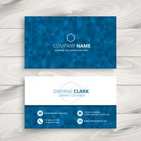 blue abstract business card vector design art illustration