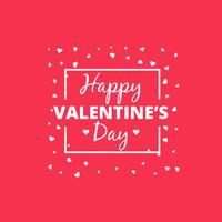 happy valentines day heart design vector design illustration
