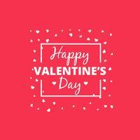 happy valentines day heart design vector design illustration