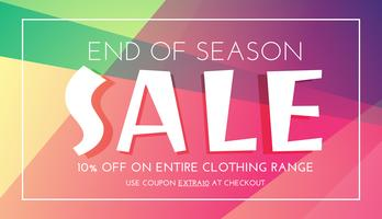 stylish sale banner with colorful background