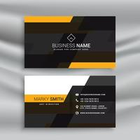 yellow and black elegant business card template design