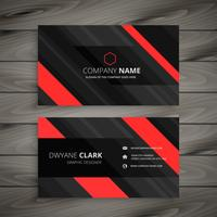 red black business card stripes design template vector design il