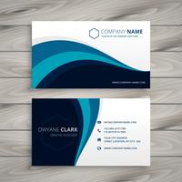 entreprise avec blue wave style template vecteur conception illustrati