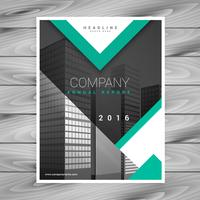 company brochure flyer template with geometric shapes