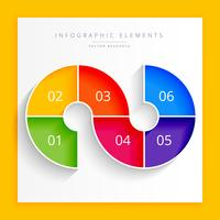 design de infográfico de etapas modernas