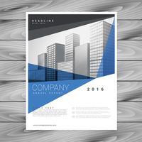 företagsblå affärer årsrapport flyers design leaflet prese