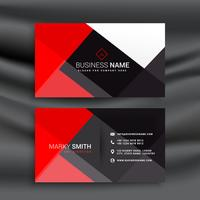 red and black professional business card