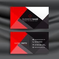 tarjeta profesional roja y negra