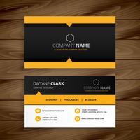 yellow black modern business card template vector design illustr