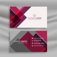 abstract pink and gray business card design