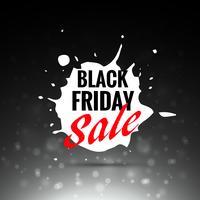svart fredag försäljning vektor etikett design i stänk