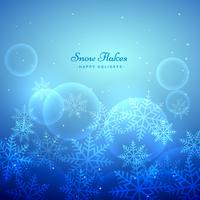 Fondo de copos de nieve festival de Navidad