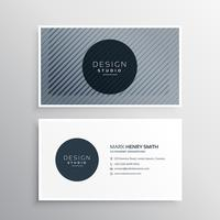 company business card layout template with abstract pattern line