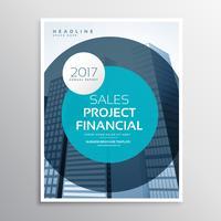 modelo de design de vetor de brochura de página de capa de empresa