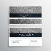 elegant gray business card design with pattern