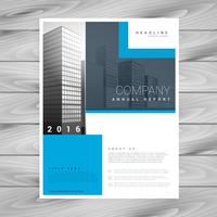 design de brochura comercial em formas simples