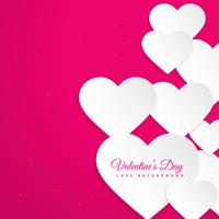 hearts in pink background vector design illustration