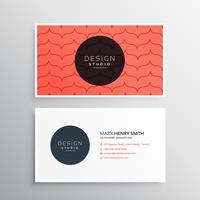 clean modern business card design with red pattern