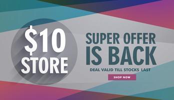 super erbjudande försäljning rabatt banner reklam